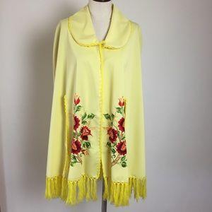 Vintage Embroidered Handmade Cape